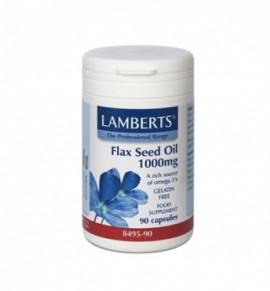 Lamberts Flax Seed Oil 1000mg 90 caps (Ω3+Ω6)