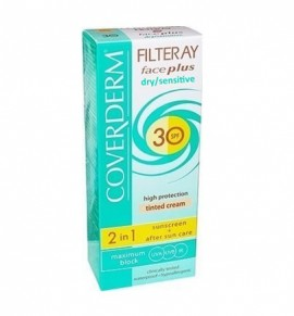 Coverderm Filteray Face Plus Tinted Cream Light Beige Dry/Sensitive SPF30 50ml