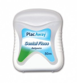 Plac Away Dental Floss Unwaxed 50m