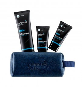 Panthenol Extra Men Blue Pack Face & Eye Cream 75ml & After Shave Balm 75ml & 3in1 Cleanser 200ml