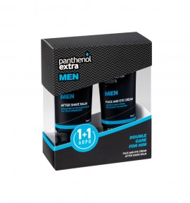 Panthenol Extra Pack MEN Face and Eye Cream 75ml & ΔΩΡΟ MΕΝ After Shave Balm 75ml