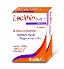 Health Aid Lecithin 1000mg - Co Q10 - Vitamin E - blister 30 caps