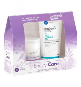 Panthenol Extra Beauty Care Face & Eyes Cream 50ml & Face Cleansing Gel 150ml