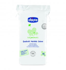 Chicco Baby Moments Τετράγωνα Μαντηλάκια από Βαμβάκι 60τμχ