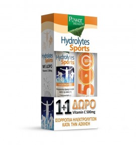 Power Health Hydrolytes Sports 20eff.tabs & Vitamin C 500mg 20eff.tabs