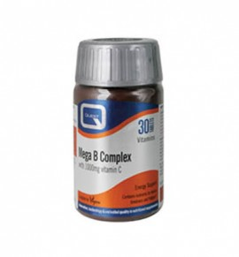 Quest Vitamins Mega B Complex 50mg plus 1000mg vitamin C 30caps