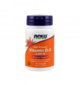 Now Foods Vitamin D-3 2000 IU softgels