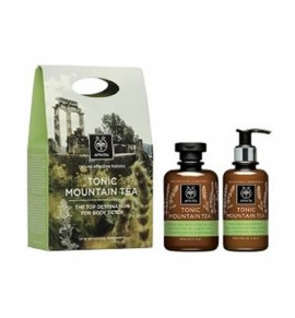 Apivita Tonic Mountain Tea Shower Gel 300ml + Moisturizing Body Milk 200ml