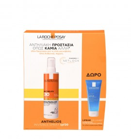 La Roche Posay Promo Anthelios Invisible Spray SPF30+ 200ml + Δώρο Lipikar Gel Lavant 100ml