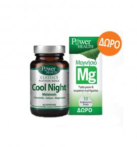 Power Health Cool Night 30caps & Magnesium 220mg eff.tabs 10s