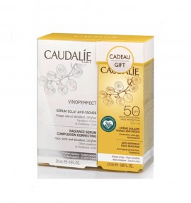 Caudalie Vinoperfect Radiance Serum Complexion Correcting 30ml & Anti-Wrinkle Face Suncare SPF50 25ml