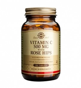 Solgar Vitamin C with Rose Hips 500mg tabs 100s