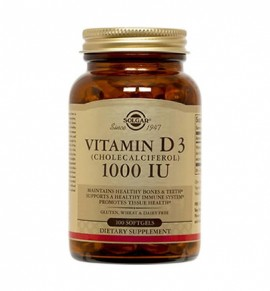 Solgar Vitamin D3 1000IU softgels 100s