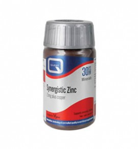 Quest Vitamins Synergistic Zinc 15mg with Copper 30tabs
