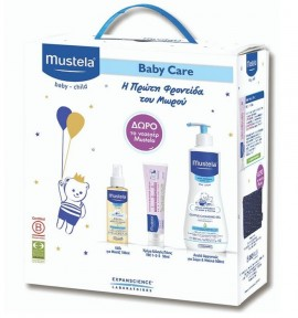 Mustela Baby Care Gentle Cleansing Gel 500ml & Vitamin Barrier Creme Change 1-2-3 50ml & Mustela Baby Oil 100ml & Δώρο Νεσεσέρ