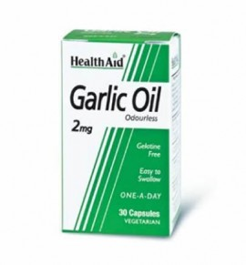 Health Aid Garlic Oil 2mg Odourless 30caps