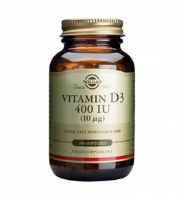 Solgar Vitamin D3 400IU softgels 100s