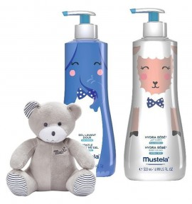 Mustela Box Gentle Cleansing Gel 500ml & Hydra Bebe Lotion 500ml με Δώρο Αρκουδάκι