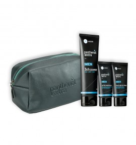Panthenol Extra Men Grey Pack Face & Eye Cream 75ml & After Shave Balm 75ml & 3in1 Cleanser 200ml