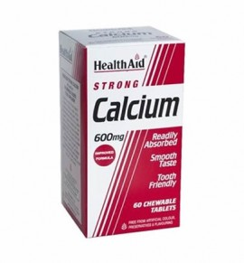 Health Aid Strong Calcium 600mg Chewable 60 tabs
