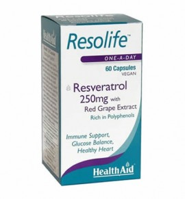 Health Aid Resolife - Ρεσβερατρόλη 250mg 60caps