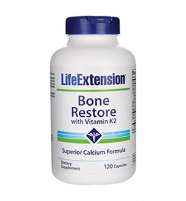 Life Extension Bone Restore with Vitamin K2 120caps