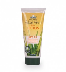 Organic Aloe Vera Sun Protection Lotion SPF25 200ml