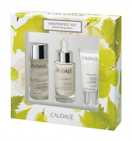 Caudalie Vinoperfect Radiance Serum Complexion Correcting 30ml & Concentrated Brightening Essence 50ml & Cell Renewal Night Cream 15ml