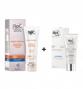Roc Soleil-Protect Quenching Nourishing Cream SPF50+ 50ml + Hydra+ Ελαφριάς Υφής 40ml