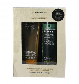 Korres Mountain Pepper Aftershave balm 125ml & Showergel 250ml