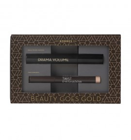 Korres Promo Drama Volume Mascara 01 Black 11ml & Twist Eyeshadow 68 Golden Pink 1.12gr