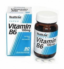 Health Aid Vitamin B6 (Pyridoxine HCl) 100mg Prolonged Release 90tabs