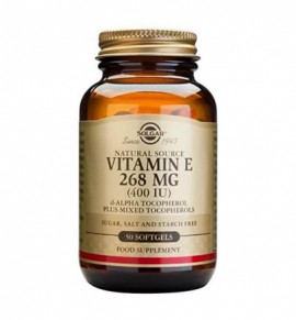 Solgar Vitamin E Natural 400 IU softgels 50s