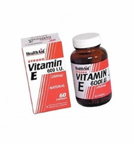 Health Aid Vitamin E 600iu Natural 60 caps
