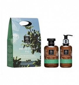 Apivita Refreshing Fig Shower Gel 300ml + Moisturizing Body Milk 200ml