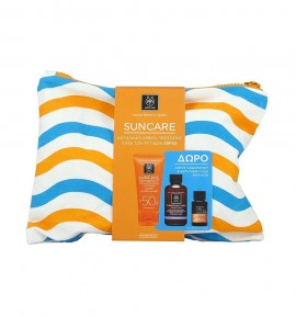 Apivita Suncare Anti-Wrinkle Face Cream SPF50 50ml & Cleansing Foam Face & Eyes 75ml & Apivita Suncare Protective Hair Oil 20ml