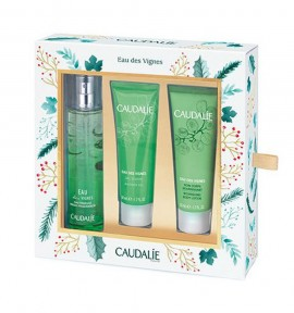 Caudalie Eau Des Vignes 50ml & Shower Gel 50ml & Nourishing Body Lotion 50ml