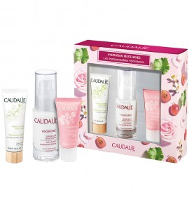 Caudalie Hydration Must-Haves Vinosource SOS Thirst Quenching Serum 30ml & Moisturizing Sorbet for Sensitive Skin 15ml & Instant Foaming Cleanser 50ml