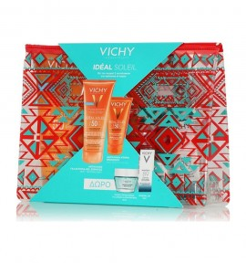 Vichy Ideal Soleil Wet Skin Γαλάκτωμα-Gel SPF50 200ml & Dry Touch SPF50 50ml & Quenching Mineral Mask 15ml & Mineral 89 5ml