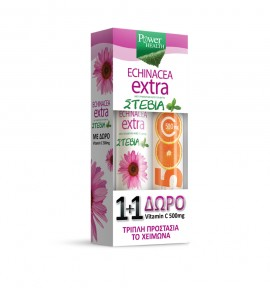 Power Health Echinacea Extra STEVIA 24s+ ΔΩΡΟ C 500mg, 20s