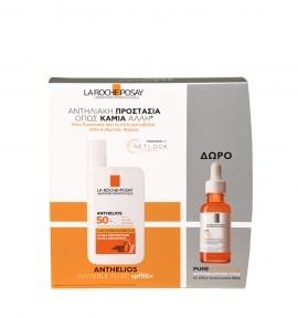 La Roche Posay Promo Anthelios Invisible Fluid SPF50+ 50ml + Δώρο Pure Vitamin C10 10ml