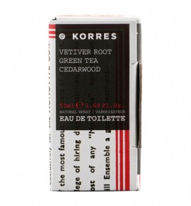 Korres Vetiver root/ Green Tea/ Cedarwood/ Άρωμα 50 ml