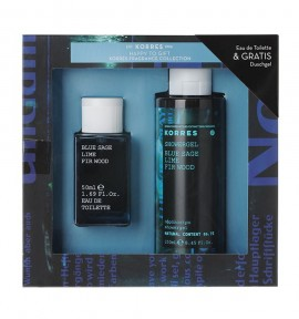 Korres Blue Sage/ Lime/ Fir Wood Eau de Toilette 50ml & Showergel 250ml