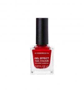 Korres Gel Effect Nail Colour 54 Melted Rubies 11ml