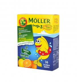 Mollers Omega-3 Kids 36 Ζελεδάκια
