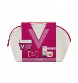 Vichy Pouch Idealia Ξηρές Επιδερμίδες & Double Glow Peel Mask 15ml & Mineral 89 5ml