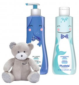 Mustela Box Gentle Cleansing Gel 500ml & Gentle Shampoo 500ml με Δώρο Αρκουδάκι