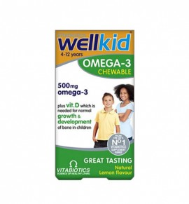 Vitabiotics Wellkid Omega-3 60 chewable caps