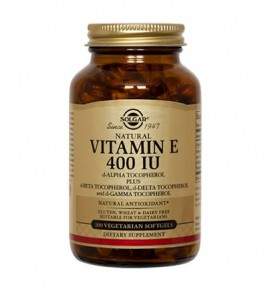 Solgar Vitamin E Natural 400 IU softgels 100s