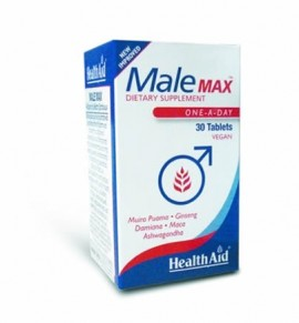 Health Aid Male Max 30 veg.tabs (Export Only)